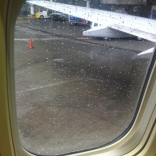 My view from the plane on the Tarmac at JFK.