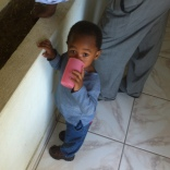 Akim. He is 1.5 years old and I met him my first day ta the house. He was only here for a few hours. He is awesome.