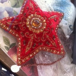 A star-shaped bag that was recently completed.