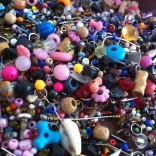 An assortment of beads.