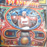 A closeup of LeBron painted on the back of a taptap.