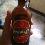 Prestige! The only beer commercially brewed in Haiti. The reigning champ of the World Beer Cup in 2012. It also won in 2000. It is very good.