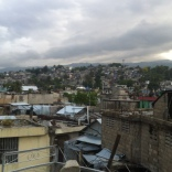 A beautiful view of part of Port-au-Prince from the rooftop of Manno's house.